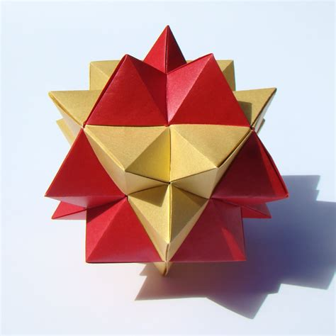 Cuboctahedron Origami - second stellation of the cuboctahedron