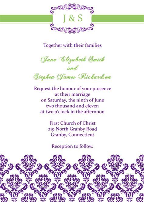 printableinvitationkits com damask vintage invitation wedding invitation templates