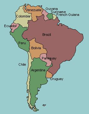 labeled map of and south america test your geography knowledge south america countries