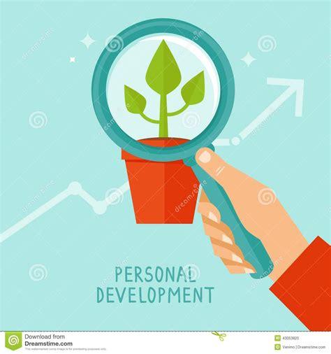 development clipart vector personal development concept in flat style stock