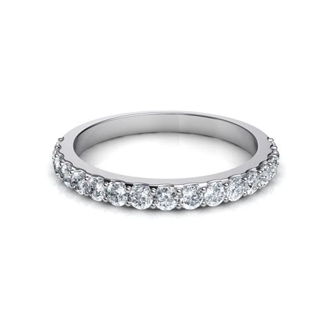 shared prong brilliant cut engagement ring