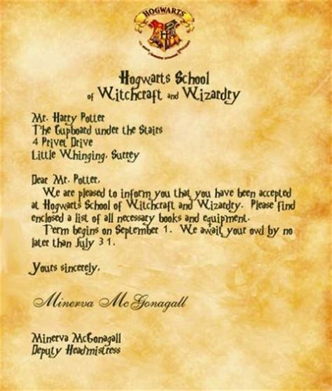 Real Harry Potter Acceptance Letter A Look Into The Mind Of Tam Tam