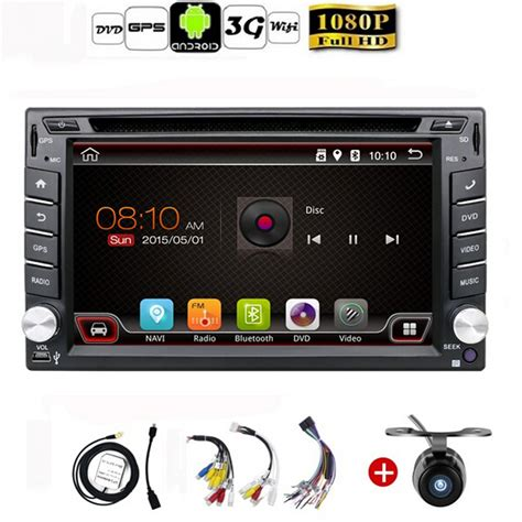 android 4 4 car stereo aliexpress buy auto android 4 4 car audio gps navigation 2din car stereo radio car gps
