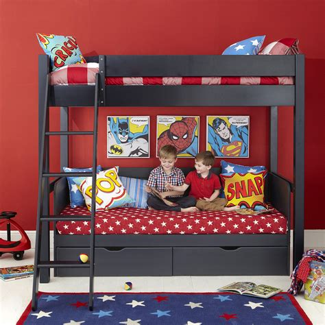 superhero bedroom decorations superhero themed black wooden aspace bunk bed with star