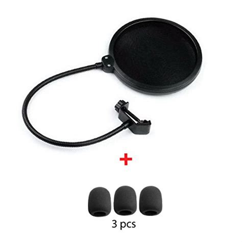 Pop Filter Cover Microphone Recording For Smulle Vlog Murah 1 top 5 best microphone pop filter for sale 2016 product boomsbeat