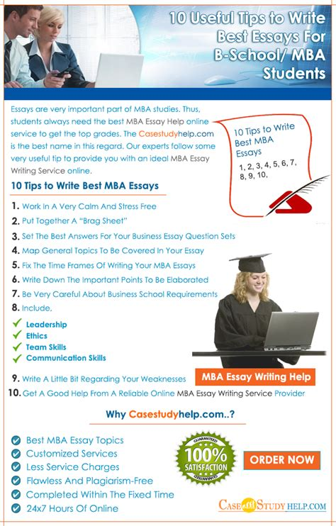 Advice To New Mba Students by 10 Useful Tips To Write Best Essays For B School Mba