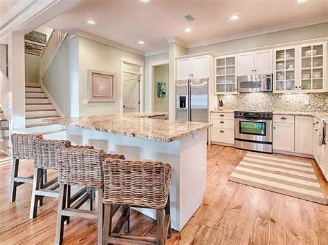 beach house cherry kitchen cabinets ideas kitchen design mint julep watercolor florida house of turquoise