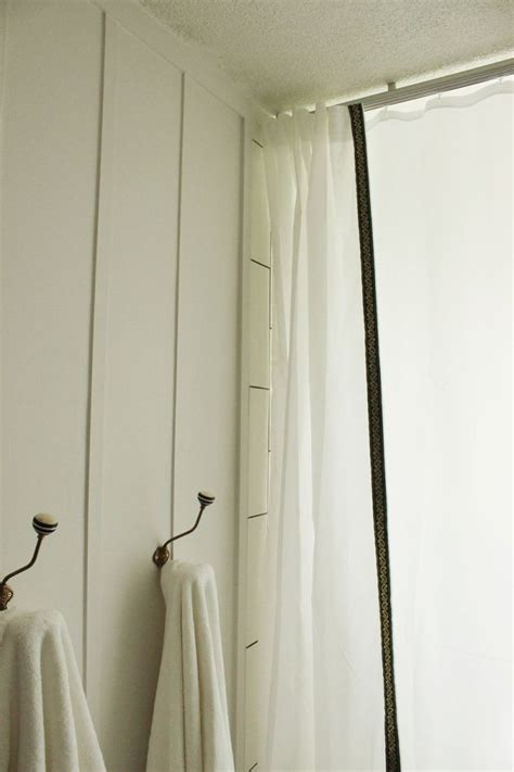 diy bathroom curtains diy simple and fast customize shower curtains
