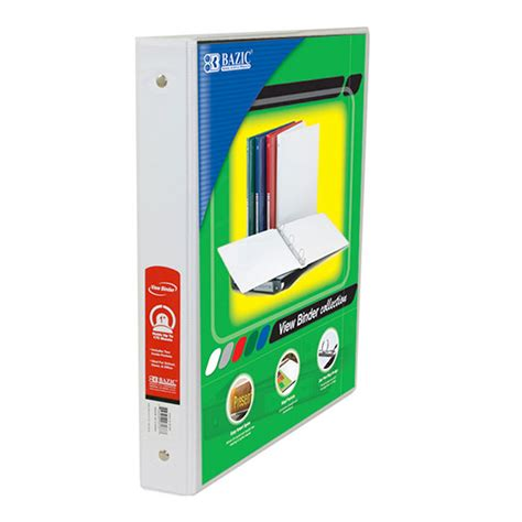 cheap white view binders mazer wholesale
