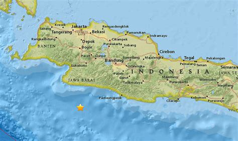 earthquake in bandung indonesia struck by another huge earthquake hours after
