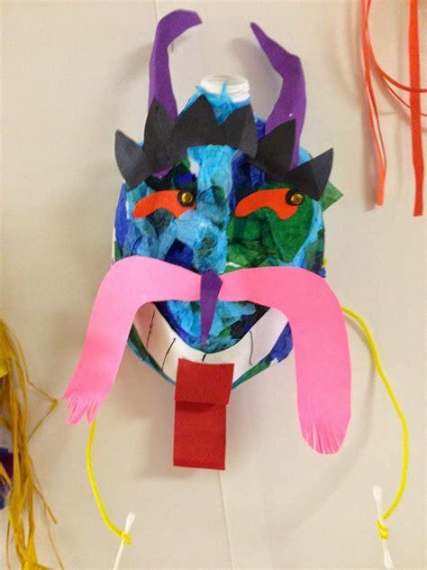 Paper Mask Techniques - sjs studio fifth grade multicultural milk jug masks