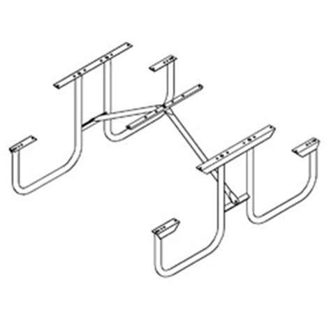 picnic table hardware kit picnic tables frame kits only series pilot rock