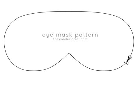 Eye Mask Template free coloring pages of fox mask template