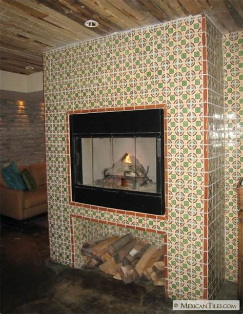 Tiles For Inside Fireplace by Mexicantiles Fireplace With Chapala Mexican Talavera