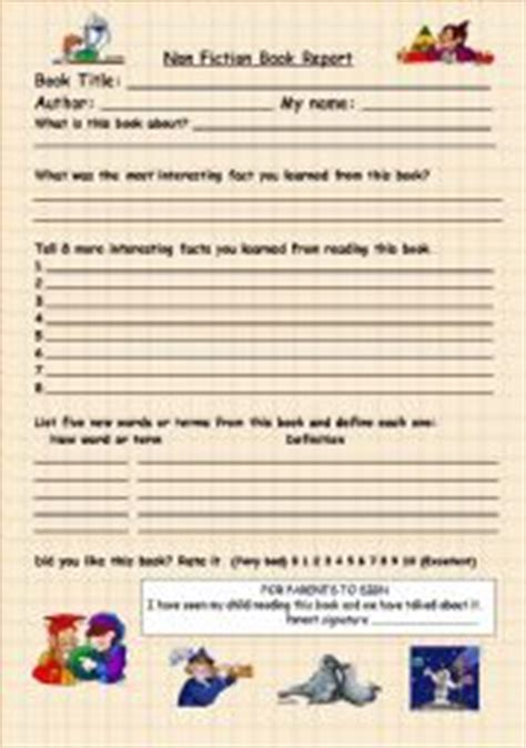 non fiction book report form worksheet non fiction book report form