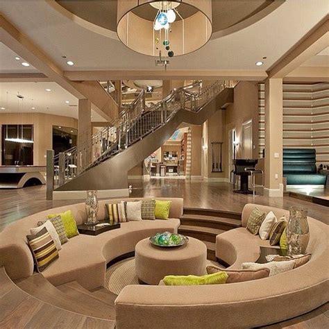 beautiful modern mansion interior beige tan brown