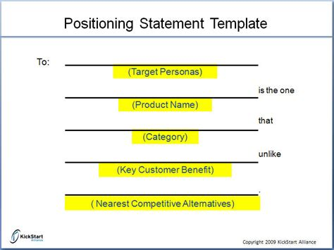 positioning statement template do we really need a positioning statement marketing