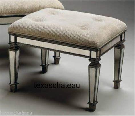 vanity ottoman shabby french venetian chic style mirrored vanity bench