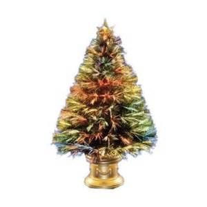 celebrations 3ft multi colored fiber optic christmas tree