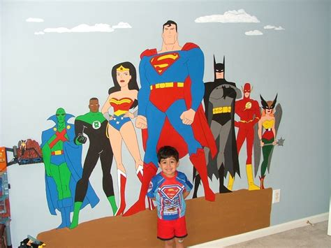 justice league bedroom i did a justice league mural in our son s bedroom art