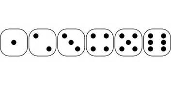 Face recreation dice games six sided die dice number gamble game dice