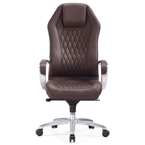dark brown leather desk chair modern ergonomic sterling leather executive chair with