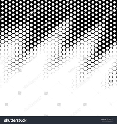 vector pattern hex background with gradient of monochrome hex grid stock