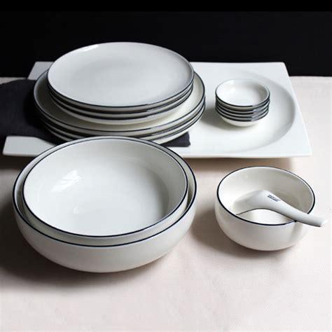 plates dishes jk home 1 pcsceramic plate bowl set sle ivory white