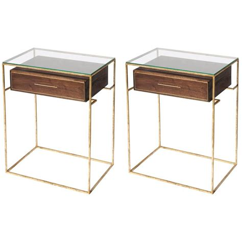 pair of floating drawer side tables bedside tables for