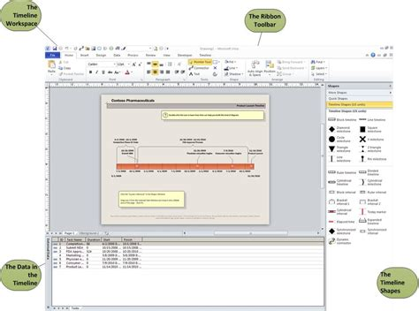 visio timeline template linking updatable data to a timeline with microsoft visio