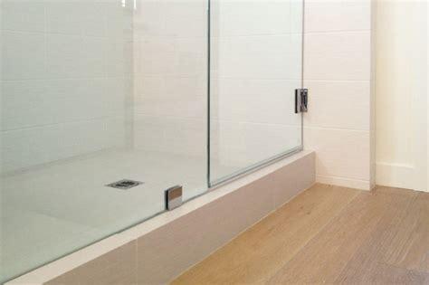 Wood Floor Bathroom Shower shower tile at wood floor farmhouse bathroom orange