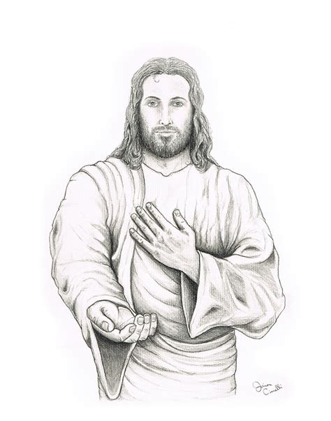 Drawing Jesus by Jesus Drawings Child Coloring