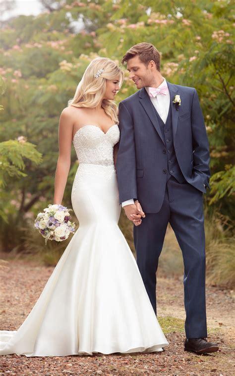 classic trumpet wedding dress essense  australia