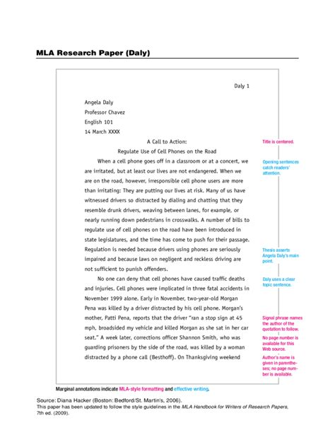 mla paper template mla outline with thesis