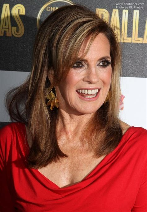 scoop haircut from 70s linda gray aged over 70 long hairstyle for a youthful