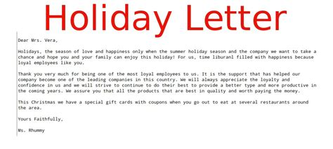 Letter Closing Happy Holidays Business Letter Sles Business Letters