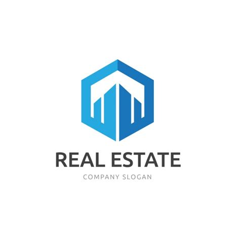 real estate logo template vector gratis download