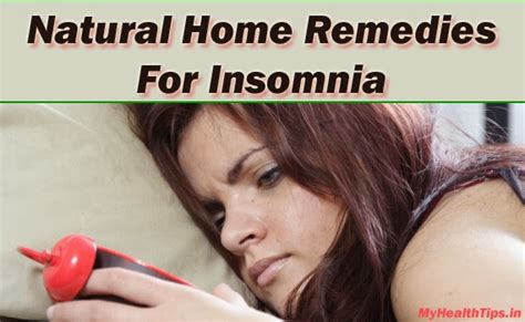 best home remedies for insomnia my health tips