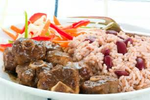 Traditional jamaican oxtail taste the islands