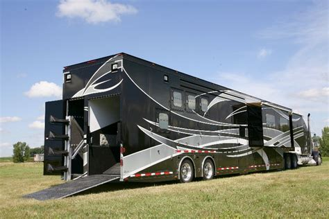 the trailer trailers with living quarters featherlite trailers