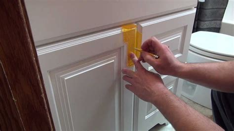 Installing Cabinet Hardware Youtube Installing Kitchen Cabinet Doors