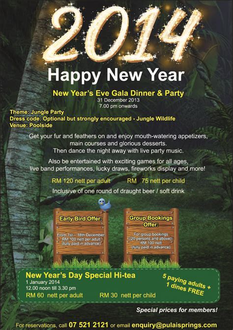 pulai new year dinner and new year promotion pulai springs resort