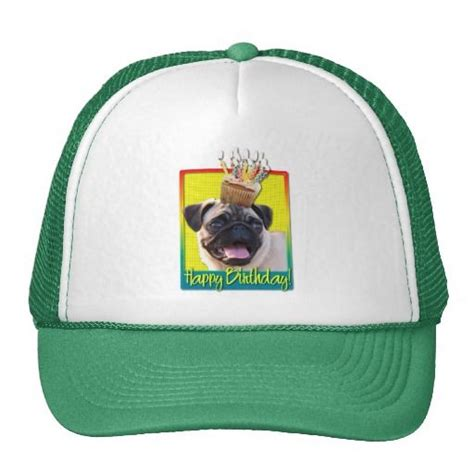 pug with birthday hat 17 best images about pug birthday ideas on pug shirt trucker hats and