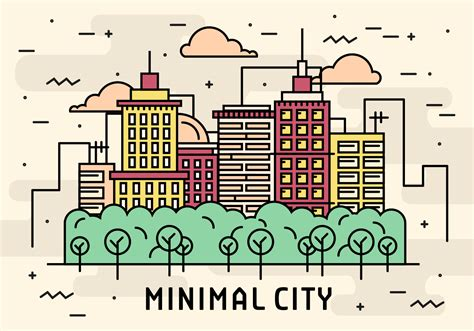 linear layout web design flat linear minimal city vector download free vector art