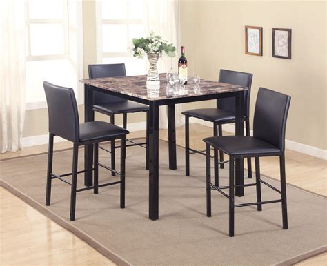 crown 4 counter height table set crown aiden 1817set 5 counter height dinette