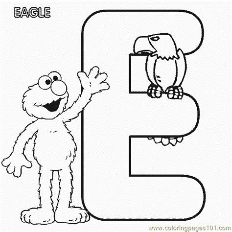 printable elmo letters coloring pages abc letter e eagle sesame street elmo
