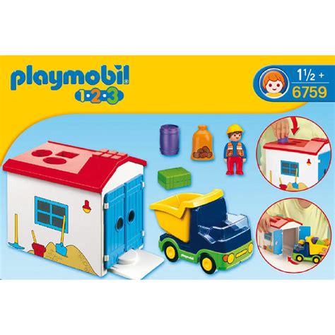 playmobil 123 truck garage 6759 163 20 00 hamleys for