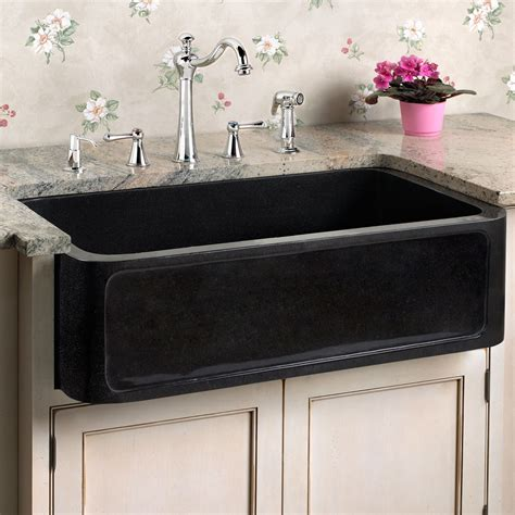 granite composite farmhouse 30 quot polished granite farmhouse sink recessed front