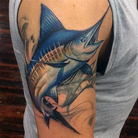 blue marlin tattoo designs 60 marlin designs for fish ink ideas