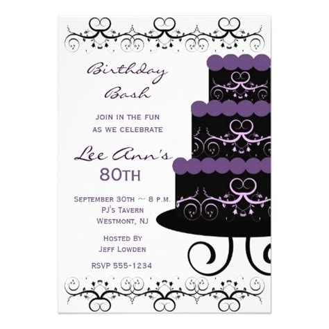80th birthday invitations templates ideas drevio